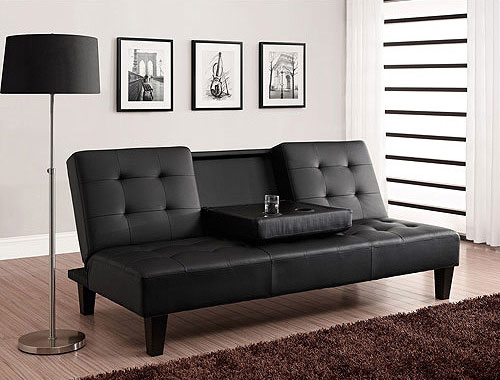 Julia Convertible Futon With Drink Holder