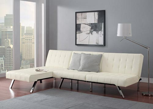 Emily Convertible Futon With Chaise Set