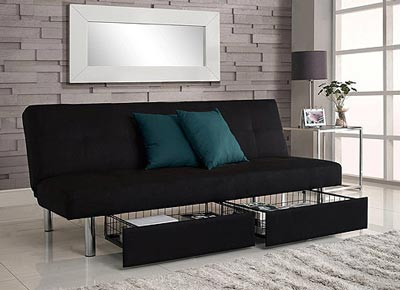 Superieur Emily Convertible Futon With Chaise Lounger