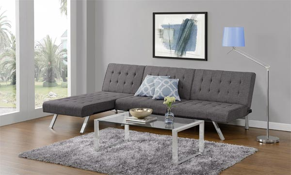 Grey Emily Convertible Futon Set
