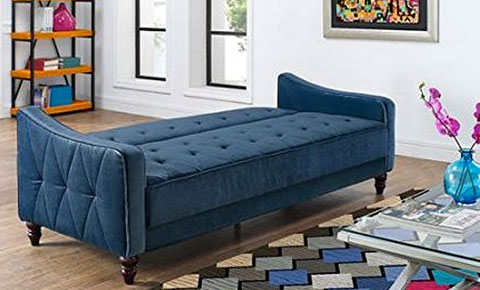 Vintage Tufted Sofa In The Form Of A Futon