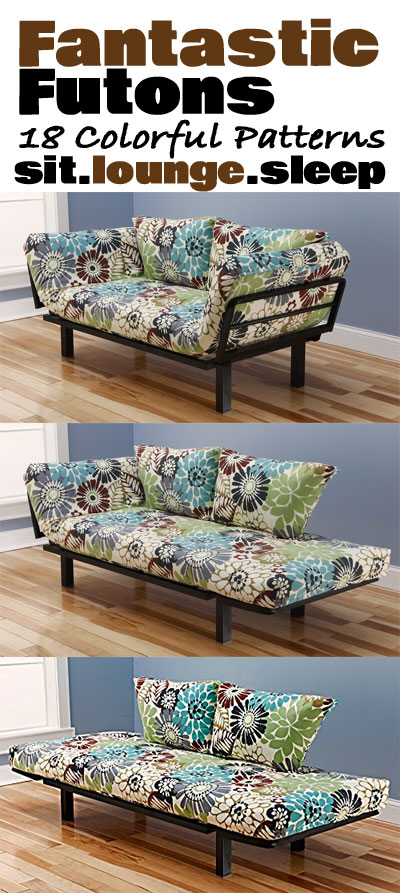 Fantastic Futons In 18 Colored Patterns