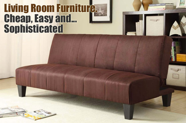 winchester convertible futon in living room - Futon Living Room Set