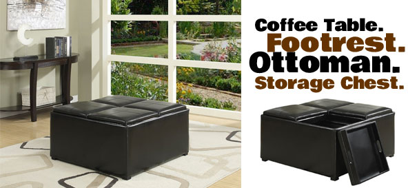 Coffee Table Footrest Ottoman And Storage Chest