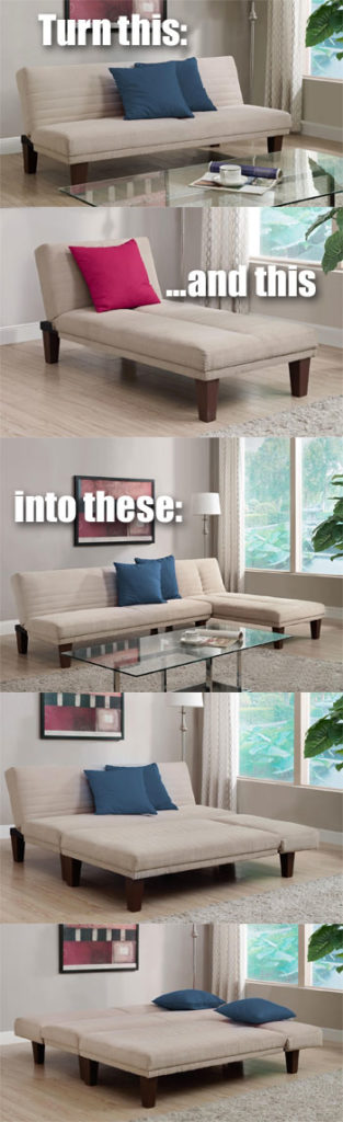 Convertible Futon Ideas for the Dillan Futon and Chaise : dillan chaise - Sectionals, Sofas & Couches