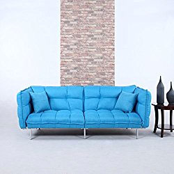 Divano Roma Linen Futon With Arms Looks Like A Sofa