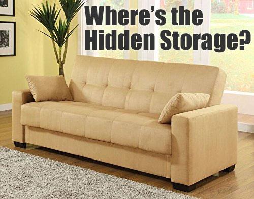 Pearington Mia Microfiber Sofa Bed With Storage
