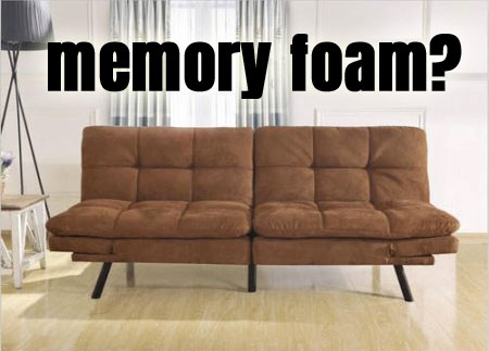 brand new 2fd72 f8cd5 Memory Foam Convertible Futon [ Pros and Cons ]