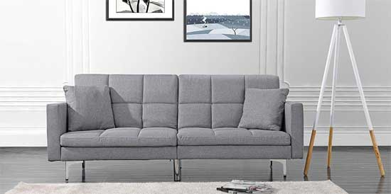 Modern Tufted Linen Futon Cheap Living Room Furniture