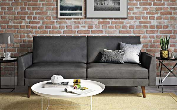 A Chic Velvet Futon That Looks Like A Couch