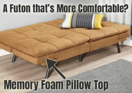 memory foam convertible futon pros and cons. Black Bedroom Furniture Sets. Home Design Ideas