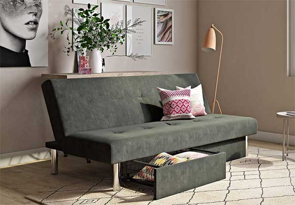 Dhp Sola Futon With Drawers Pros Cons