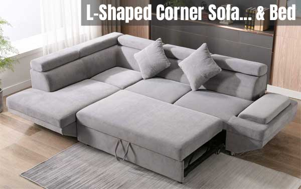 L Shaped Corner Sofa Bed The, Sofa Bed L Shaped Couch